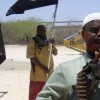 Somali men parade as members of al Shabaab in the capital Mogadishu